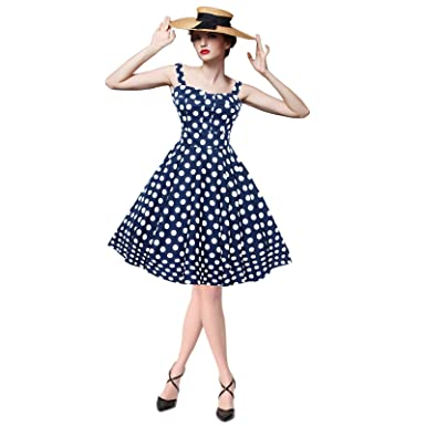 0da2eb0ea71154 Maggie Tang Women's 1950s Vintage Rockabilly Dress Polka dots Pin up dress