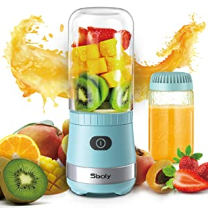 Portable Mini Blender, Personal Blender USB Rechargeable