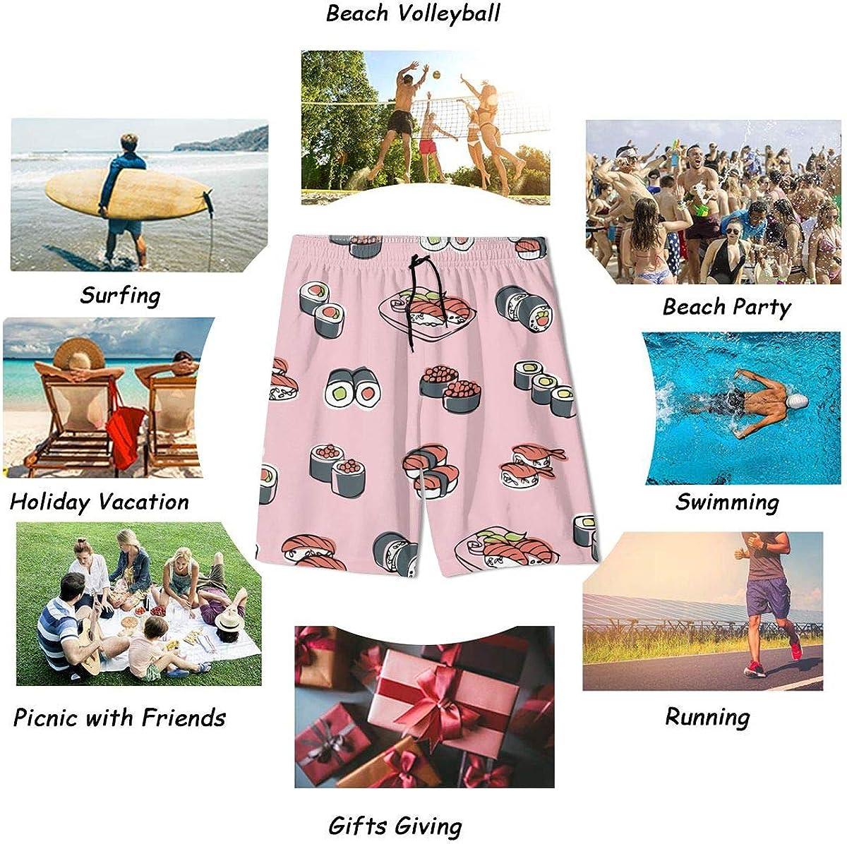 Ouxioaz Boys Swim Trunk Cartoon Hippo Beach Board Shorts