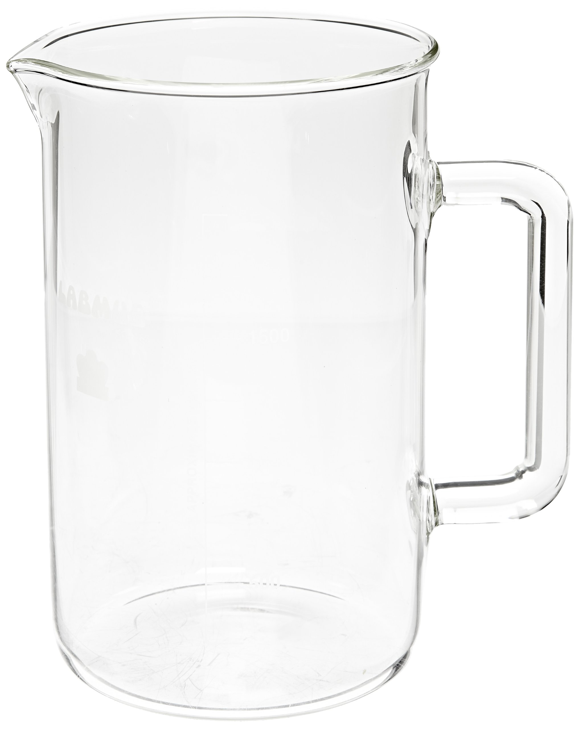 Kimble Berzelius Glass Six-Pack and Pitcher Beaker, 2L Capacity
