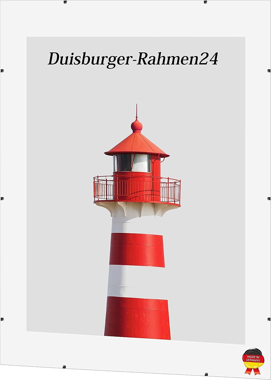 DR24 light Cornice a Giorno 33x98 cm senza bordo con parete posteriore in MDF e vetro sintetico antiriflesso poster o puzzle per foto immagini cornice su misura senza bordo ad es