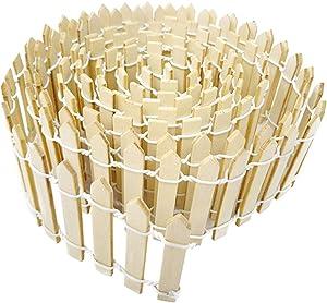 HONBAY 2PCS Wooden Miniature Garden Decorative Picket Fences Palisades for Ornament (Length: 90cm/35inch) (Wooden)