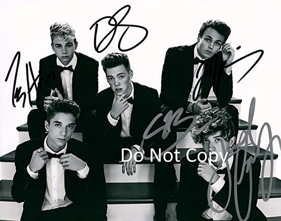 bea7011037 Why Don t We band reprint signed autographed 11x14 poster photo  2 ...
