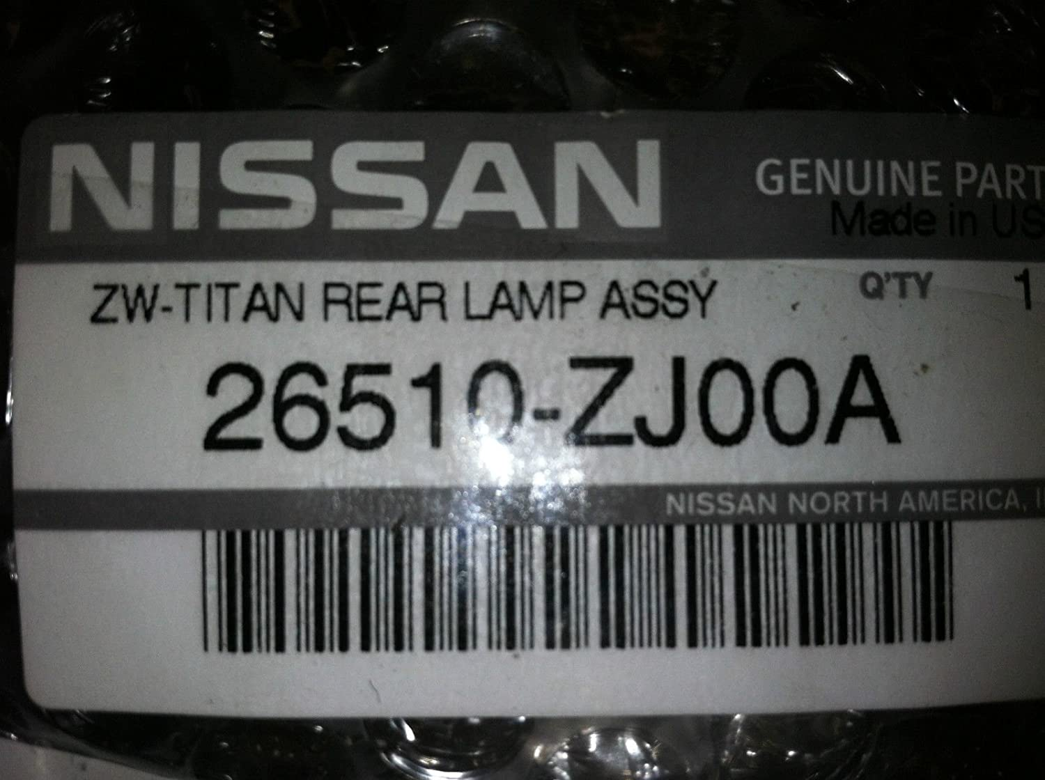 2 lamps NEW OEM 2007-2012 Nissan TITAN Rear License Plate Lamp Assembly
