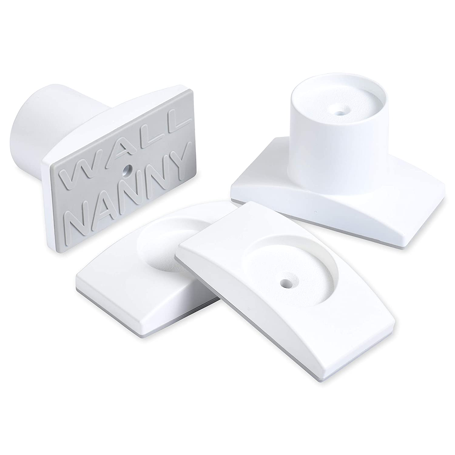 "Wall Nanny Extender - 2.5 Inch Baby Gate Extension Kit (Made in USA) Extends Pressure Mounted Gates + Protects Walls + Stabilizes Gate - Child Pet & Dog Gates - Works on Stairs - Extends 2.5"" Total"