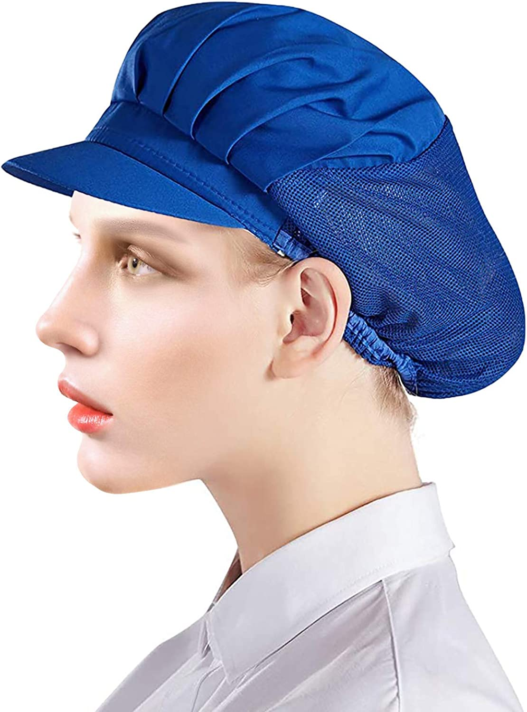 Adjustable Chef Cap Elastic/Drawstring Cooking Hat Food Service Hair Nets Mesh Kitchen Net Reusable Restaurant Bouffant