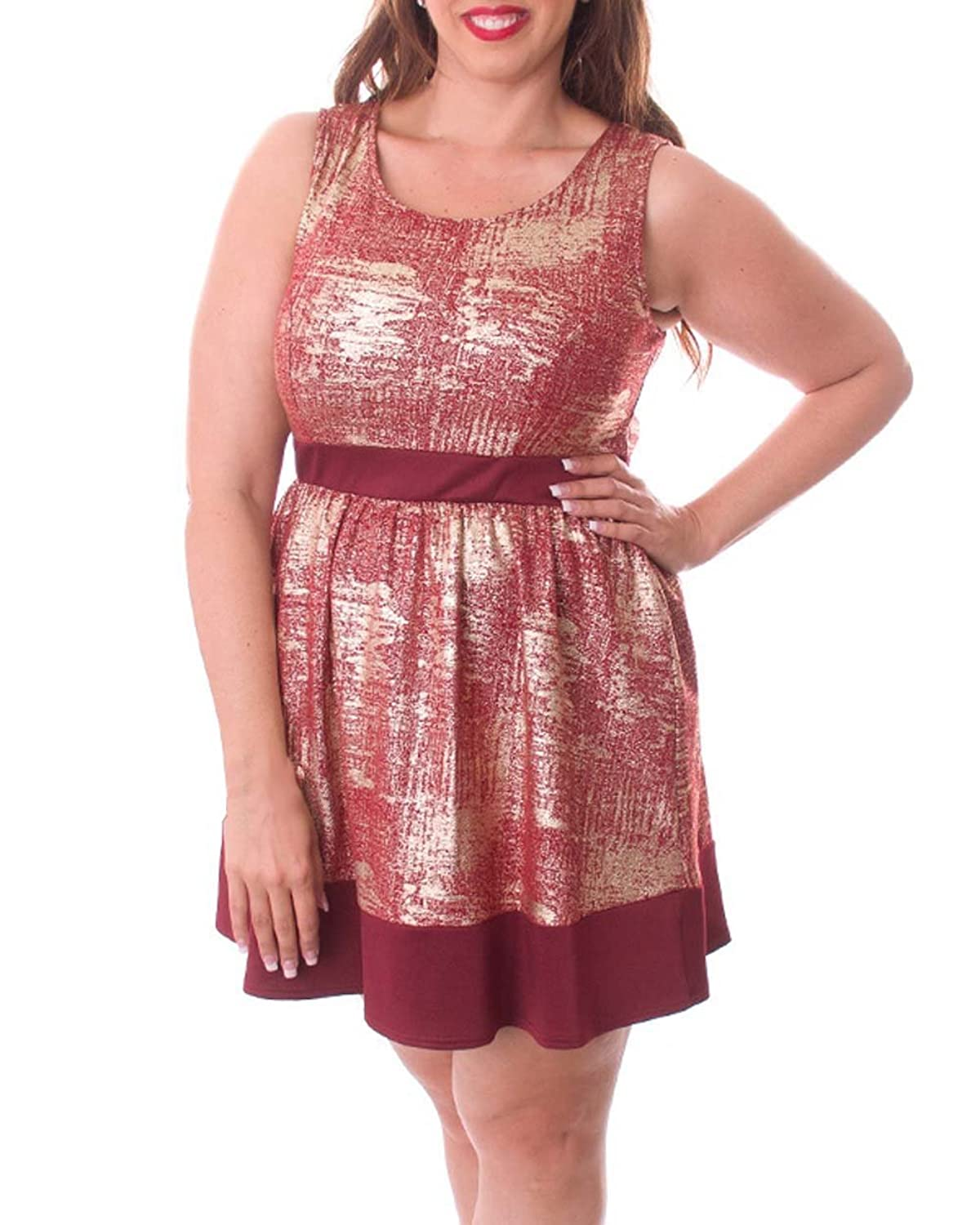 Plus Size Burgundy Out of Sight Dress