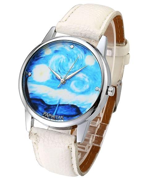Top Plaza - Reloj de pulsera, para mujer, moderno, color oro dorado,