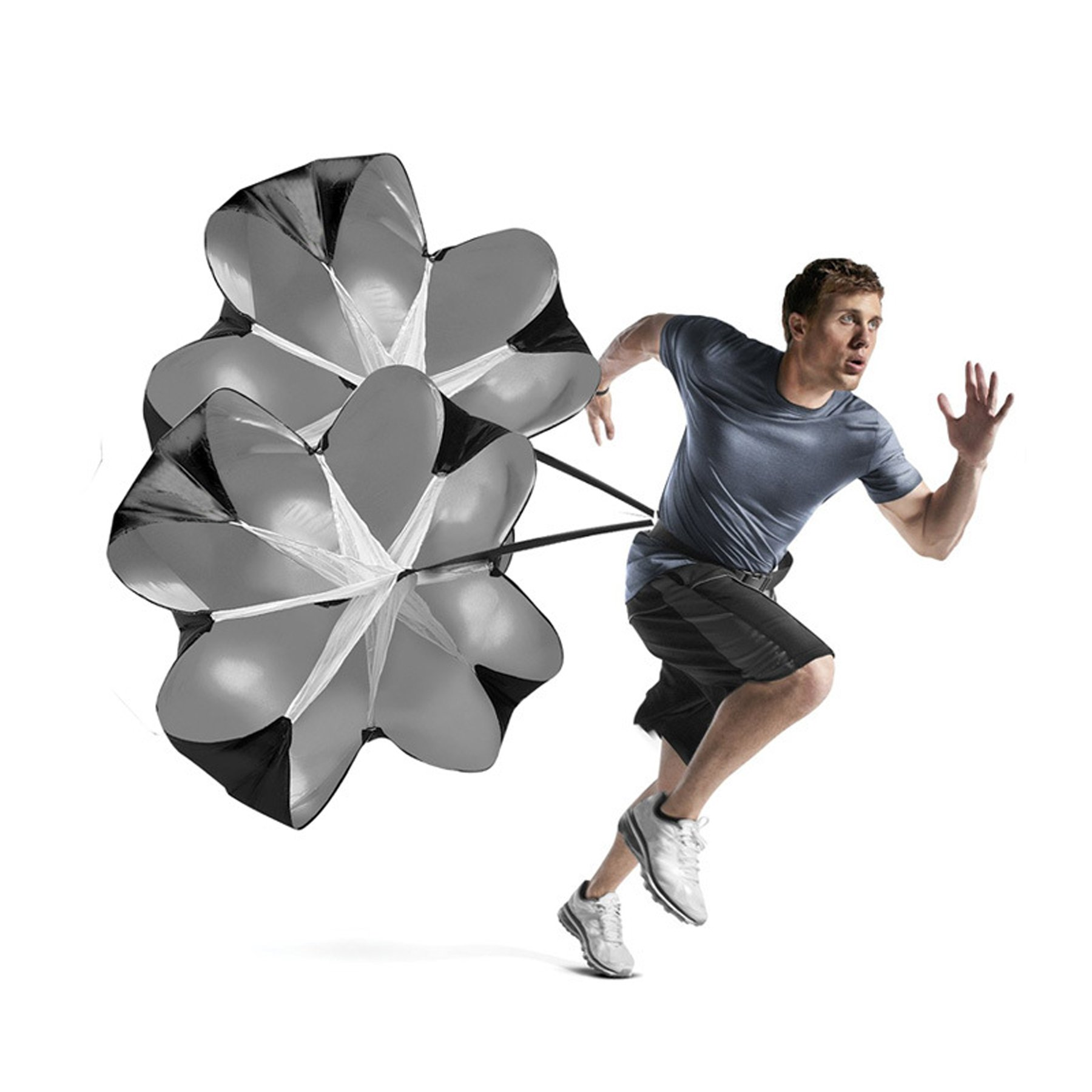 Micogo 58'' Resistance Speed Training Parachute & Fitness Explosive Power Training Equipment,with 2 Umbrella