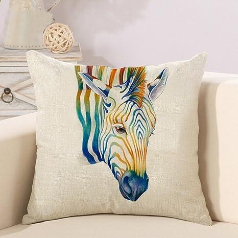 Fundas de cojín creativas Animales Zebra Almohada Caso de la ...