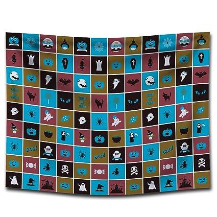 MON5F Home Halloween Impreso tapicería Lonas Mantas Toallas de Playa Pinturas para el hogar manteles Decorativos