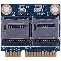 Hillrong Mini PCIE Carte mémoire Adaptateur PCI-E vers Dual TF SDHC SDXC Lecteur Convertisseur