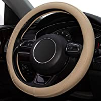 Universal Auto Car Steering Wheel Cover Breathable Anti-Slip, Odorless, 15 inch Microfiber Leather Steering Wheel Cover…