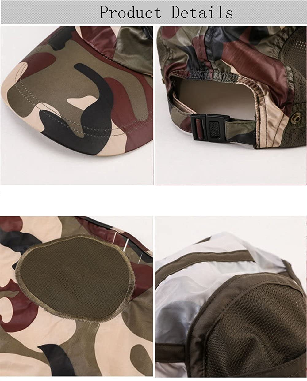 Quck-Dry Cool Sun Hats for Man.Jungle Hat Fishing Cap Army Buckle Hat