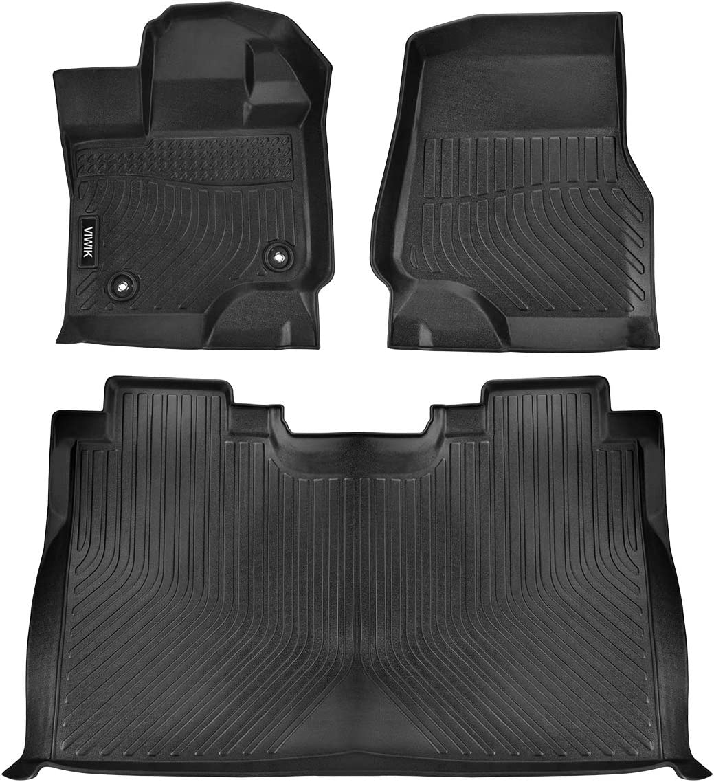 Tough VIWIK Floor Mats for 2015-2020 Ford F150 Crew Cab Durable and Eco-Friendly TPE Front and Rear Floor Liner Set for Ford F150 Crew Cab 100/% Safe