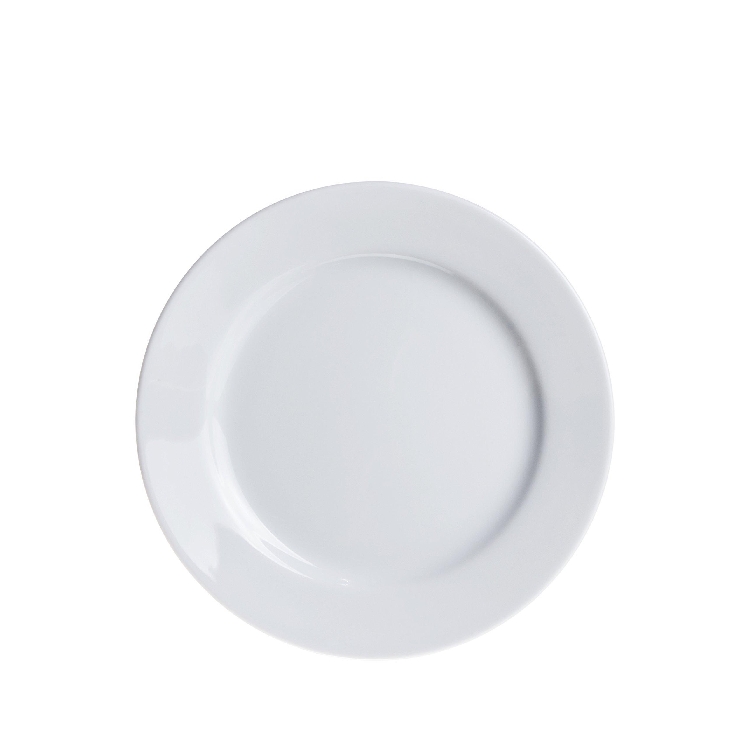 12-Piece Dinner Plates Set, Durable White Porcelain, Restaurant&Hotel Quality, 7.4''