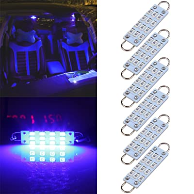 "cciyu 44mm 12-SMD Rigid Loop Blue Festoon 1.73"" LED Light Bulbs 561 562 567 564 (Pack of 6pcs): Automotive"