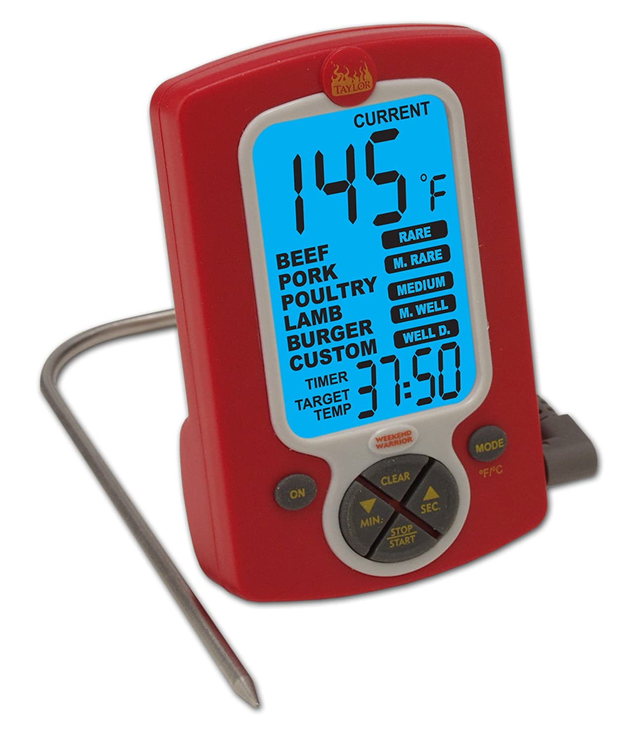 Amazon.com: Taylor Weekend Warrior Programable Thermometer / Timer ...