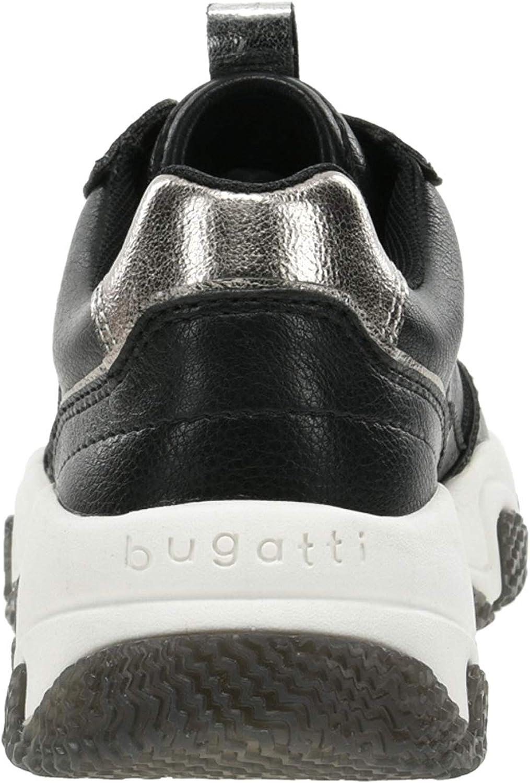Bugatti 432846015059, Scarpe da Ginnastica Basse Donna Nero Black Grey 1015
