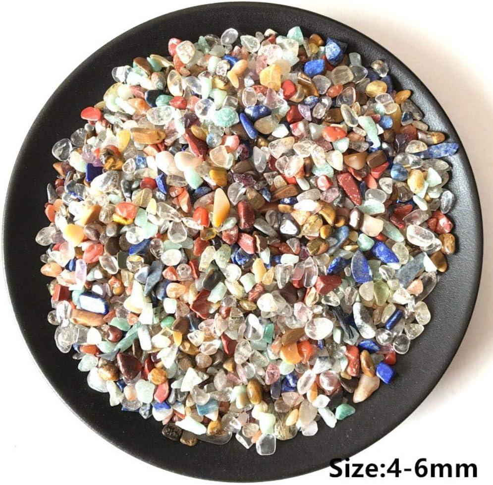Color de la Mezcla de Piedra Natural Colorido Cristal Cuarzo Espécimen Mineral Roca Chip Grava Áspero Bruto Energía cruda Decoración # 21,9-15mm
