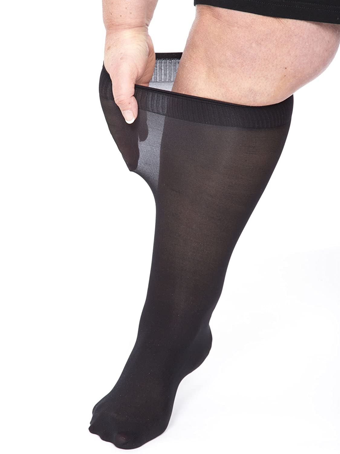 All Woman Extra Wide Knee-highs/Pop Socks Alber's 40 Denier Microfibre PACK OF 5 Anthracite) 014P5CANS2058