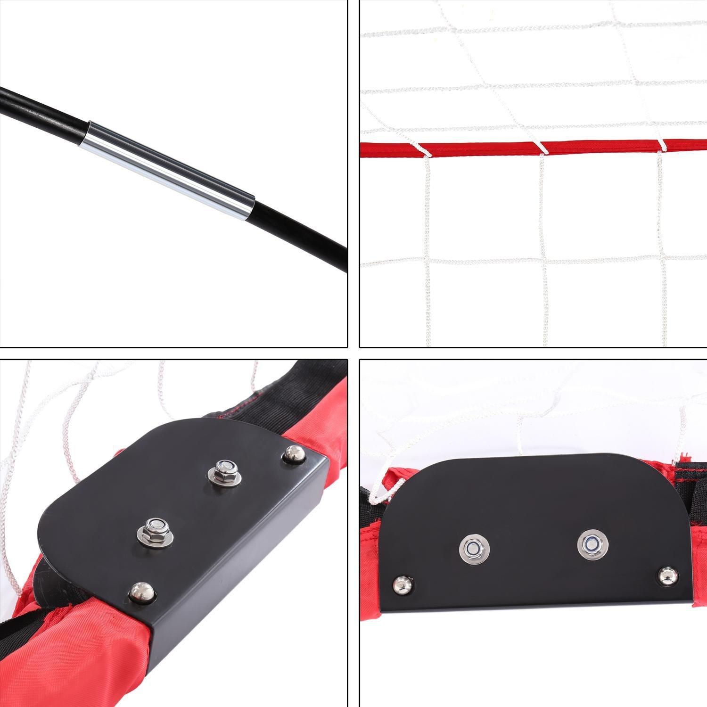 Rojo 1.8m x 1.2m para Interiores // Exteriores AIMADO Porter/ía de F/útbol Plegable Ultraport/átil Porter/ía de F/útbol con Bolsa EU STOCK