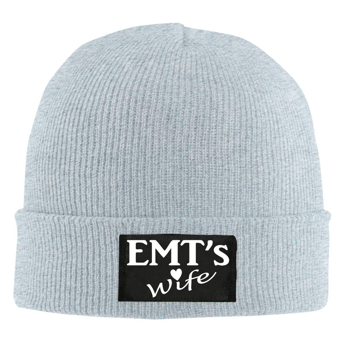 EMTs Wife Unisex Warm Winter Hat Knit Beanie Skull Cap Cuff Beanie Hat Winter Hats