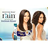 RAIN 100% HUMAN HAIR INDIAN REMY LOOSE DEEP 4PCS EXTENSIONS #1B Off Black by SHAKE-N-GO