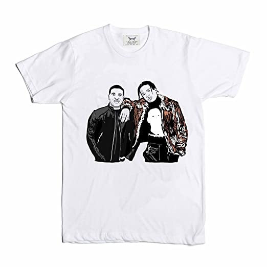 06285f423497 Amazon.com: Babes & Gents ASAP Rocky and ASAP Ferg A$AP White Tee ...