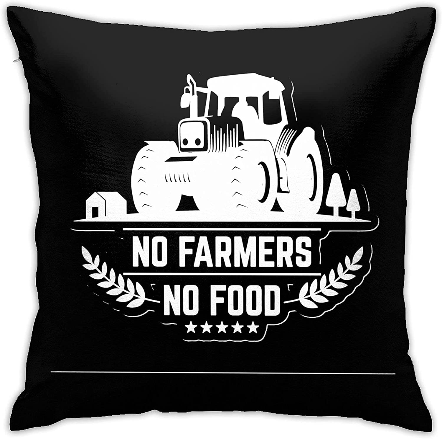 WIMTRO No Farms No Food Farmer Pillow Covers 18x18 inch Pillow Covers