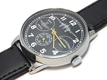 RARE POLJOT - Reloj de pulsera para hombre, diseño de aviador, color azul