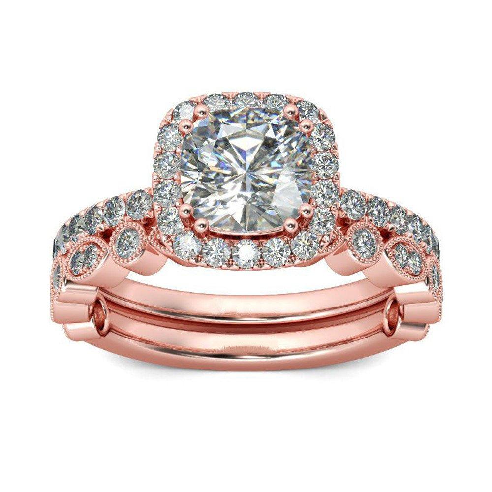 Women Ring,Exquisite Women 2-in-1 Ring Set Vintage Diamond Black Engagement Wedding Rings Hot SaleYamally