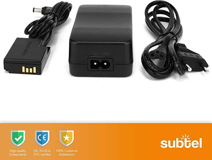 subtel® Fuente alimentación Compatible con Canon EOS 200D EOS 250D ...