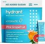 Hydrant Hydrate Grapefruit No Added Sugar 30 Stick Packs, Electrolyte Powder