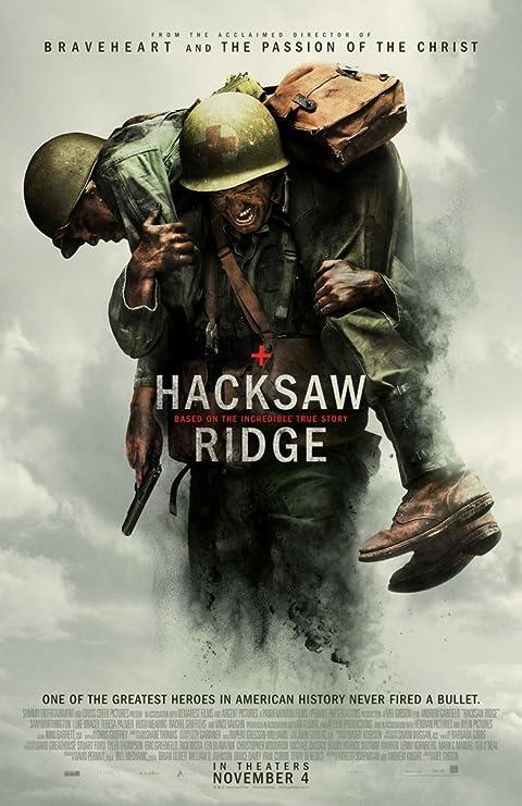 Poster of Hacksaw Ridge 2016 Full English Movie Download BluRay 480p
