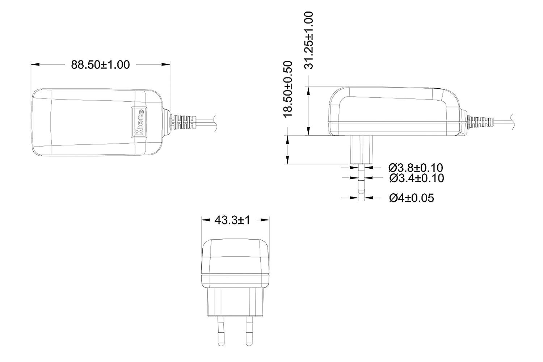 2000mA, 5,5//2,1mm Steckernetzteil 12V 2A Stromadapter f/ür Externe Festplatten-Geh/äuse Poppstar Universal AC DC Netzteil Dockingstation UVM 150cm Adapter