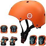 XJD 自転車 ヘルメット こども用 キッズプロテクターセット S:48~54cm 調節可能 超軽量 高剛性 通気性 自転車 サイクリング 保護用 巾着袋付き