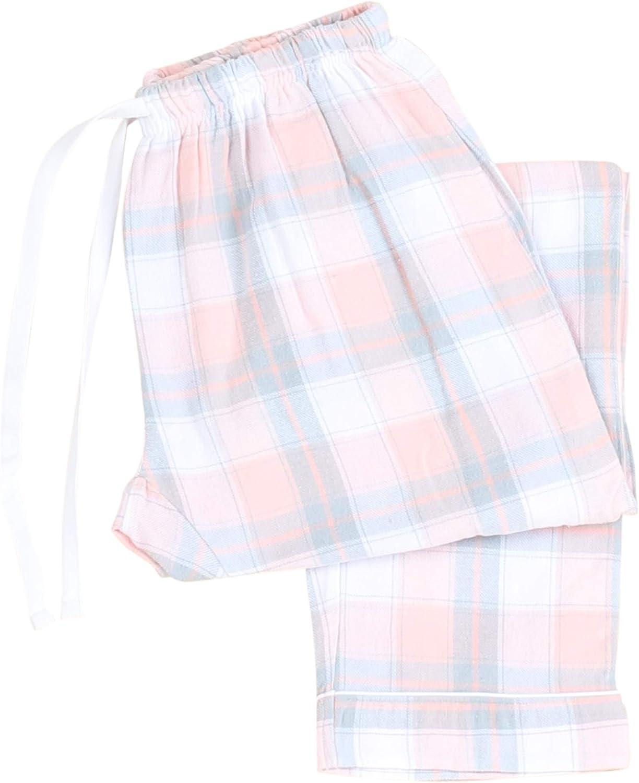Frankie /& Johnny Womens Cotton Flannel Plaid Pajama Sleep Pants with Pockets