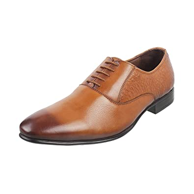 5425c618326d48 Metro Men's Tan Leather Formal Shoes (19-5540): Buy Online at Low ...