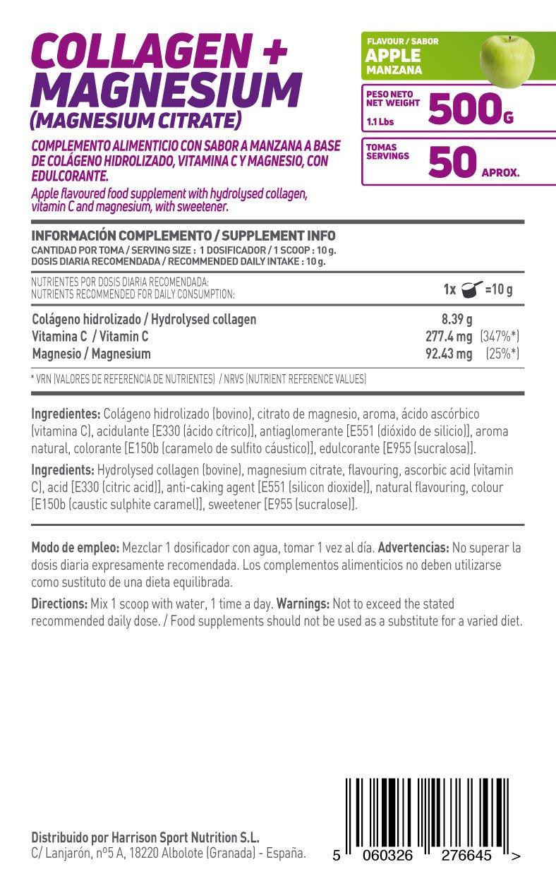 HSN Essentials - Colágeno Hidrolizado + Magnesio 2.0 - Sabor Manzana - En Polvo 500 g: Amazon.es: Alimentación y bebidas