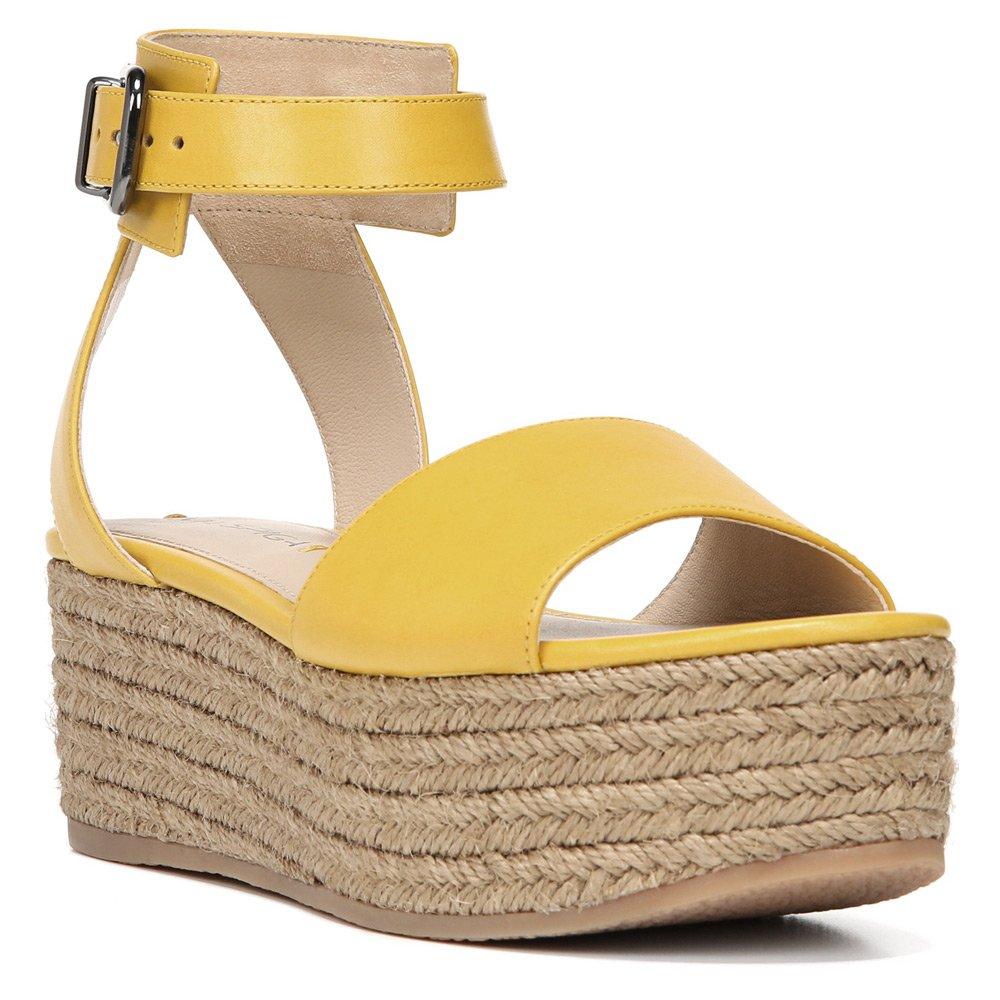 Via Spiga Women's Nemy Platform Sandal B01C70HSFU 8.5 B(M) US|Yellow Nuova Gren Vacchetta