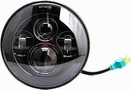 Faro delantero para moto o coche, 7 pulgadas, 9 LED, H4, 45 W, DRL ...