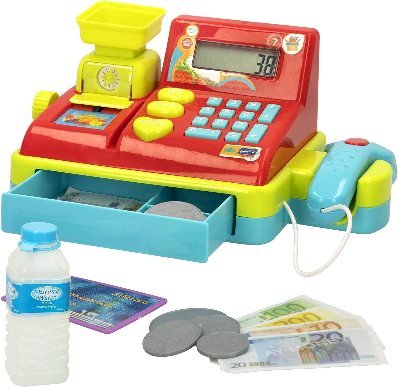 ColorBaby - Caja registradora con luz, sonido y calculadora My Market (46589)