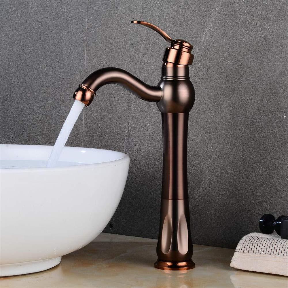 Decorry Luxus RoséGold Waschtischarmaturen Einhand-Hahn-Wannen-Hahn-Hahn-Wasser-Mixer Deck Berg Badezimmer Becken Kran-Hahn, B