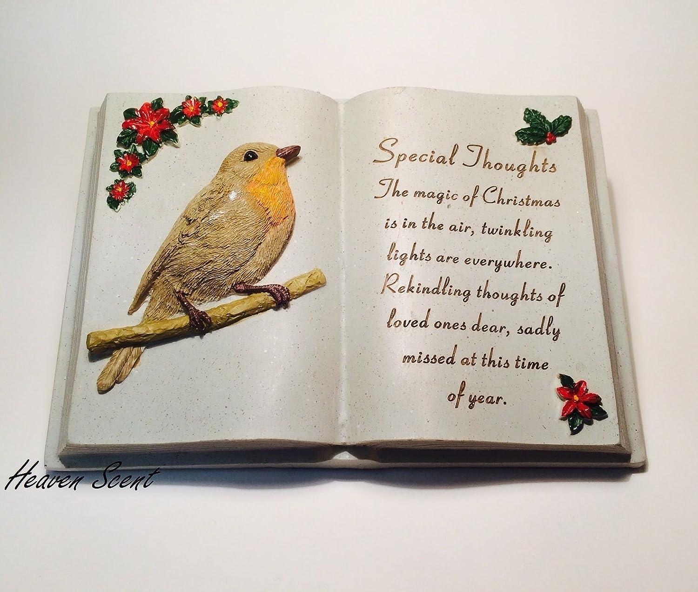Special Mum /& Dad Robin Love Birds Memorial Graveside Stone Plaque Ornament