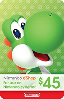 Amazon com: $45 Nintendo eShop Gift Card [Digital Code]: Video Games