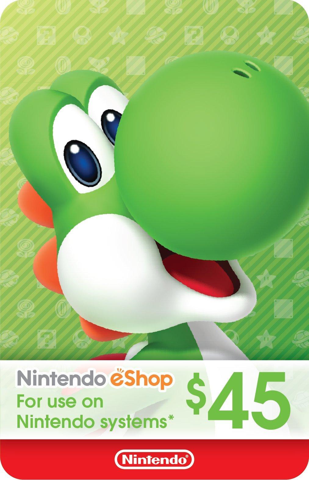 $45 Nintendo eShop Gift Card [Digital Code] by Nintendo