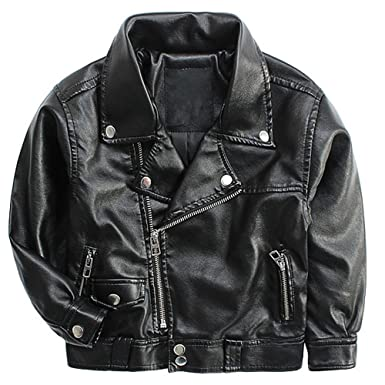 8e7a9e6d7765 Amazon.com  LJYH Children s PU Leather Moto Jacket Baby Boy s New ...