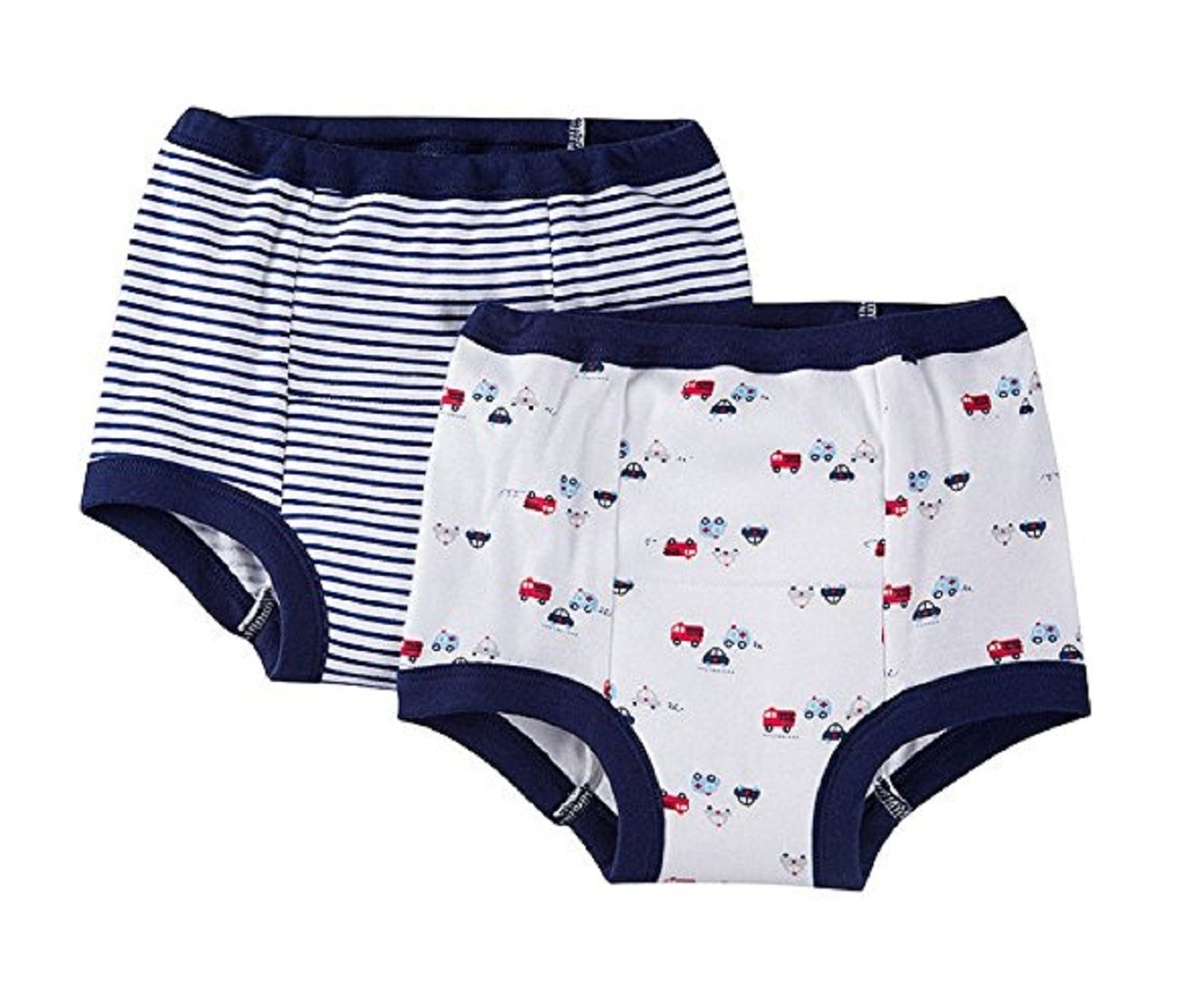 Gerber Baby and Toddler Boys Cotton Training Pants Firetrucks Blue 2-Pack (3T)
