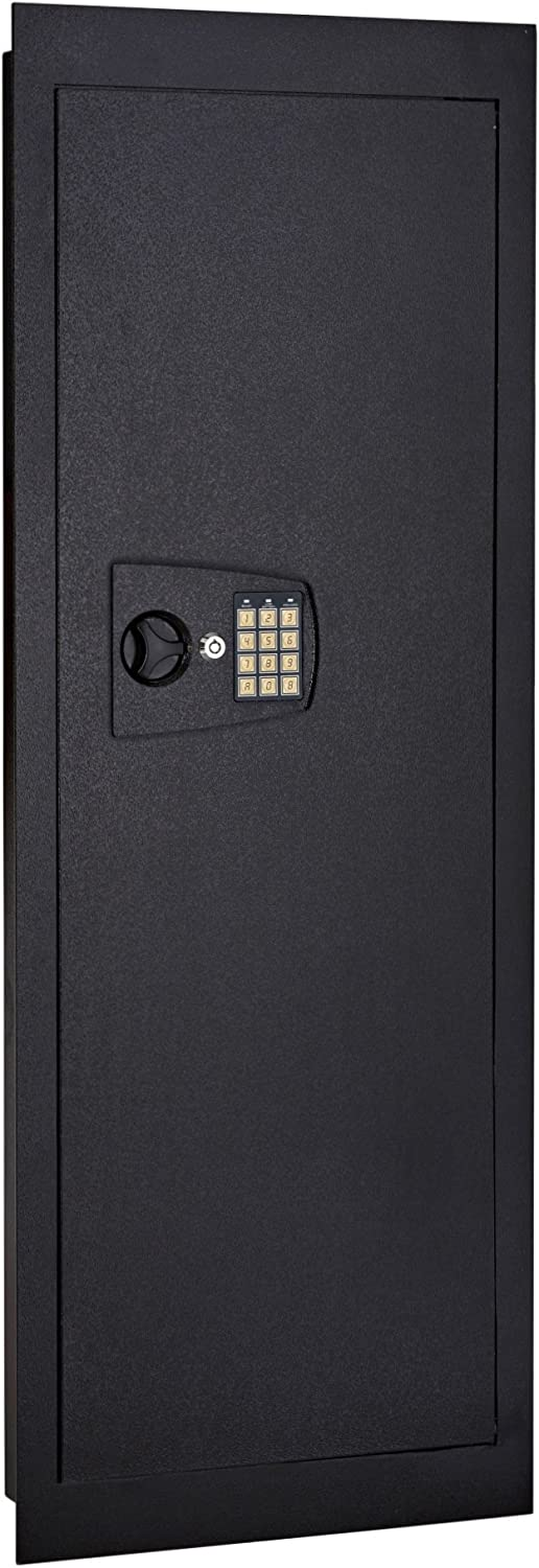 SnapSafe in Wall Long Gun Safe - Secure Heavy Duty Flush Mount Gun Safe with Digital Keypad - Use as a Gun Cabinet, Rifle Safe, or Home Safe for Valuables - Installs in Minutes, 44 x 16.25 x 4 Inches